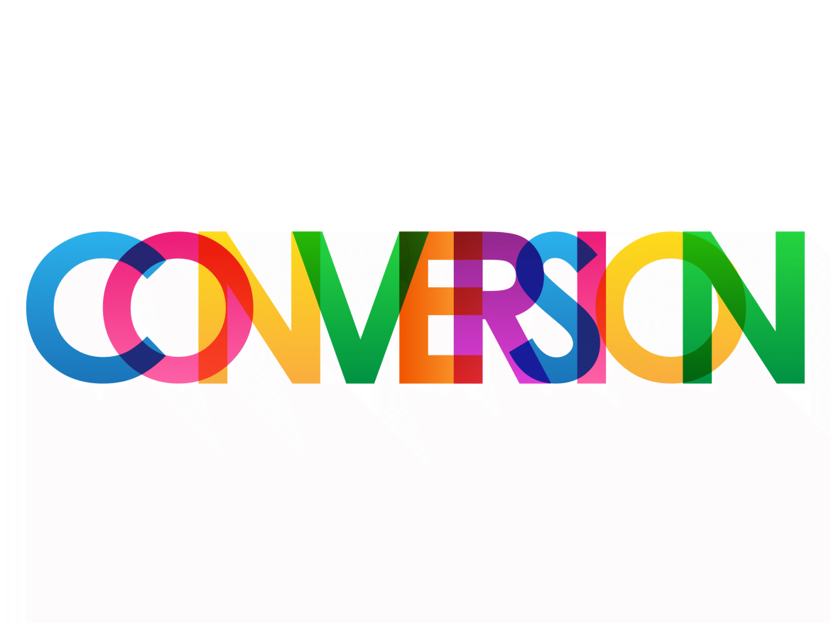 An image of a CONVERSION sign in colour