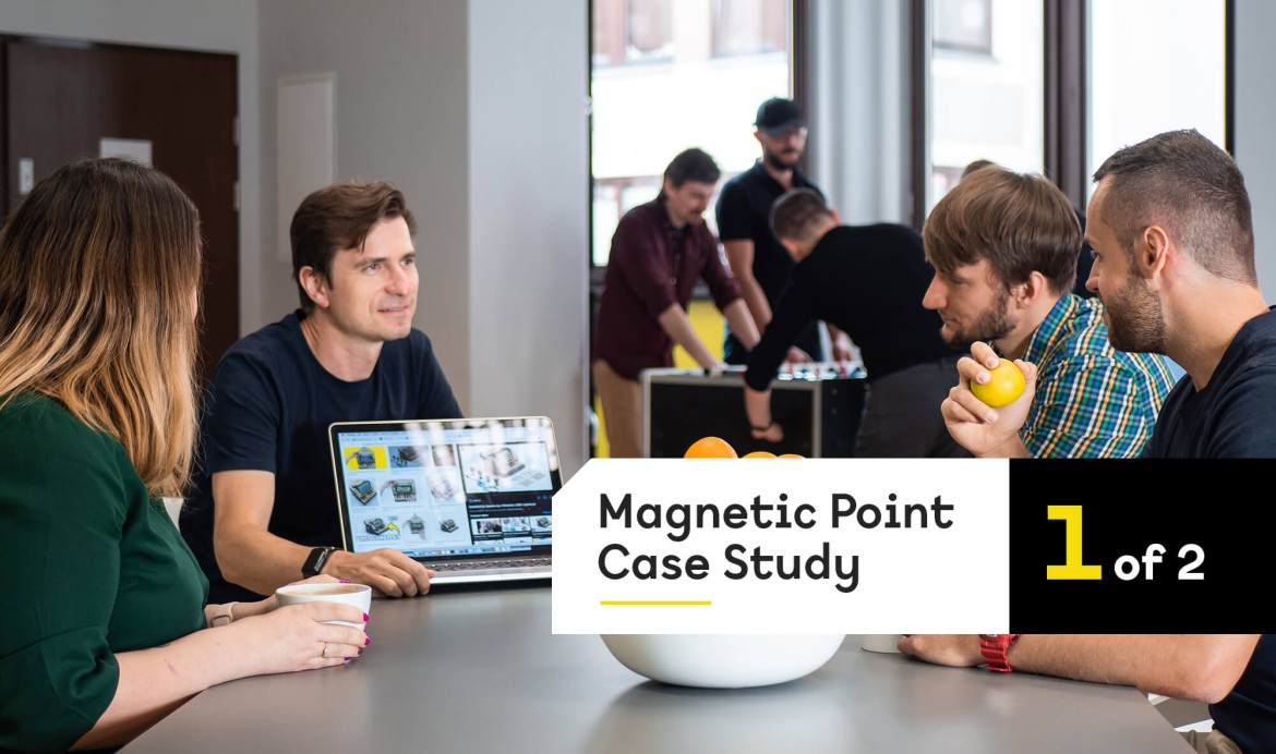 A photo of the Magnetic Point team
